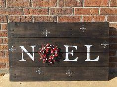 Noel Christmas sign Christmas decor Wood sign