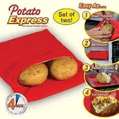 Katherine Potato Express Microwave Potato Cooker (pack of 2)
