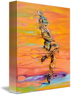 """""""Step+up""""+by+Karina+Llergo,+Northbrook,+IL+//+Step+Up+is+and+acrylic+paintings+of++a+dancer+in+motion.+This+figurative+paintings+represents+energy+through+human+motion+and+emotions.+I+dare+into+breaking,+lengthen+and+deforming+the+extremities+in+the+figures+to+represent+the+force+of+energy+through+movement.+The+dancer+i...+//+Imagekind.com+--+Buy+stunning+fine+art+prints,+framed+prints+and+canvas+prints+directly+from+independent+working+artists+and+photographers."""