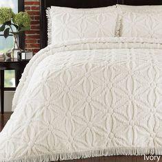 Arianna Chenille 3-piece Bedspread Set | Overstock.com