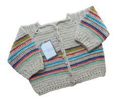 Casaco de crochê-Recém-nascido