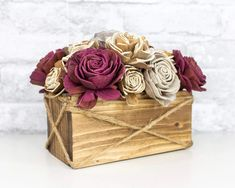 The Wesley Centerpiece kit is full of our favorite flower! The Wesley flower very much resembles a rose with an added rustic touch added by the bark being left on! #diyflowers #woodflowers #solawood #diycraft #craftideas #diy #preservedflowers Sola Wood Flowers, Wooden Flowers, Small Centerpieces, Wedding Centerpieces, Wedding Decor, Wreath Crafts, Flower Crafts, Floral Foam