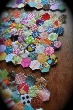 little hexagons- i see a road trip project coming up!