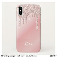 Shop Glitter drip rose gold pink ombre girly name Case-Mate iPhone case created by Thunes. Glam And Glitter, Rose Gold Glitter, Rose Gold Painting, Ombre Background, Glitter Phone Cases, Rose Gold Pink, Samsung Galaxy Cases, Ipad Case, Iphone Case Covers