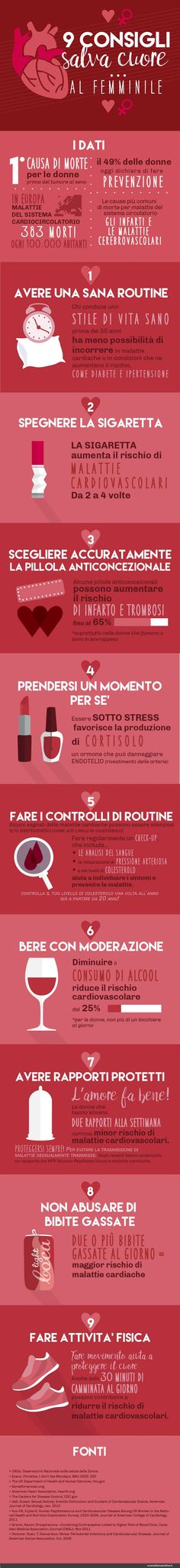 9 CONSIGLI SALVA CUORE AL FEMMINILE- esseredonnaonline.it- illustrated by Alice Kle Borghi kleland.com