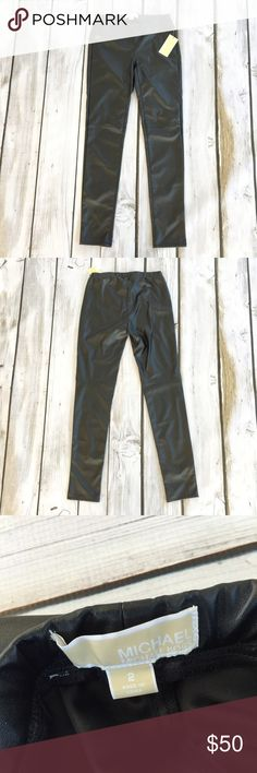 Michael Kors Pleather Leggings New with tags pleather leggings. Stitching right above the knees Michael Kors Pants Leggings
