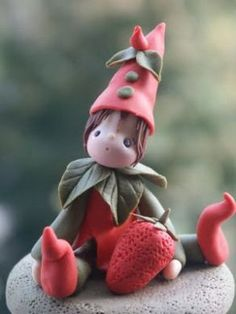Gnome salt dough idea.
