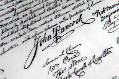 Holly Monroe Recreates John Hancock's Signature on the Declaration of Independence