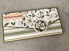 "Karte ""Clutch"" - stempeldichbunt Clutch, Craft Fairs, Card Wallet, Magnolia, Stampin Up, Birthday Cards, Diy And Crafts, Scrap, Envelopes"