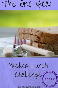 "The Packed Lunch Week 2 results are in! Includes a recipe for Pita Bread Chicken ""Quesadillas"" Delicious!"
