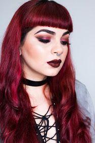 De Coturno & Spikes: Nouveau Grunge - Deep Red Smokey Eyes Makeup | Modern Renaissance  Palette
