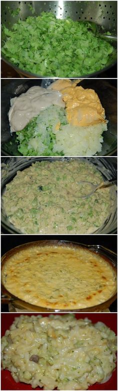 Broccoli and Rice Casserole - change to: 1 pkg frozen chopped broccoli and a mix of onion and celery (not just onion)