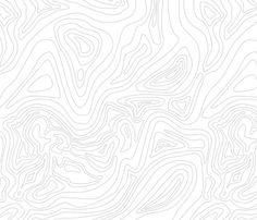 Ocean depth map white - medium scale fabric by ravynka on Spoonflower - custom fabric
