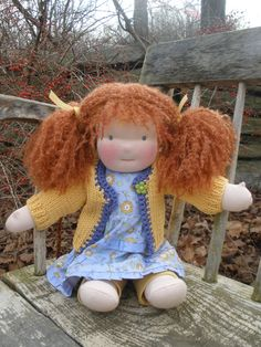 16  inch Waldorf all natural cloth doll by hazeldoll on Etsy, $158.00