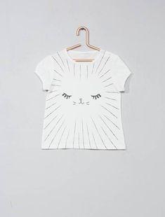 2595d7b267d66 T-shirt imprimé fantaisie. T-shirt imprimé fantaisie écru ...