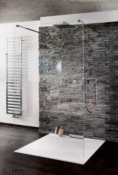44 The Best Ideas Black Shower Tiles Design Master Bath Layout, Small Bathroom Layout, Small Bathroom With Shower, Modern Bathroom Decor, Rustic Bathrooms, Bathroom Interior Design, Bad Inspiration, Bathroom Inspiration, White Tile Shower