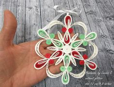 Size 12cm/4.8 inches(approx) The price is for one piece. Without glitter. Decorative handmade Christmas stars in quilling technique. . You can hang them up on any holder as decoration; they can make a wonderful gift for special and different occasions. They can be hanged up in