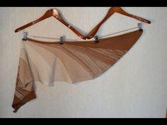 shawl Alba, machine knitting pattern - YouTube