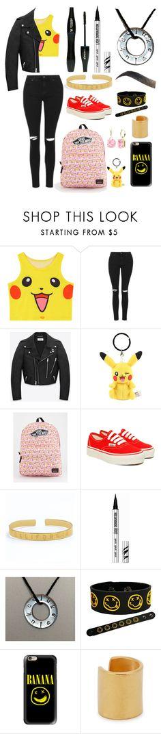 """Pokemon 2.0"" by troylerwillrise on Polyvore featuring Chicnova Fashion, Topshop, Yves Saint Laurent, Vans, Lancôme, Bare Escentuals, Casetify, Maya Magal and StyleRocks"