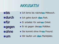 Deutsch Lernen Vorschule – Rebel Without Applause Study German, German English, Learn German, Learn English, German Grammar, German Words, German Language Learning, Teaching English, Akkusativ Deutsch
