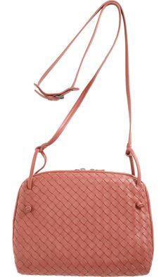 Bottega Veneta Intrecciato Zip Around Crossbody Bag - I m currently  obsessed with peachy- 8d8f50ea1a2