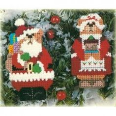 Two-Sided Teddy Bear Ornaments - Plastic Canvas Patterns