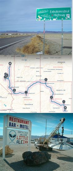 Road trip America's Extraterrestrial Highway to spot aliens! Click through for the full trip.