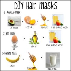 Homemade hair masks with ingredients found in your kitchen