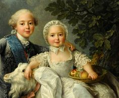 Comte d'Artois, later Charles X with his sister, Madame Clotilde.