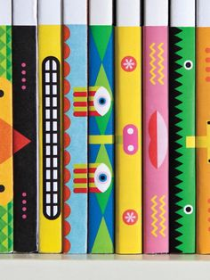 Detail of desktop spine totems from the archive by garbettdesign Magazine Design, Totems, Illustration Competitions, Book Design Inspiration, Colour Inspiration, Folders, Book Spine, Communication Art, Beautiful Book Covers