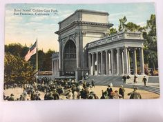 1926 Band Stand, Golden Gate Park, San Francisco, CA postcard