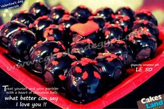 special Valentine's day elegantly wrapped chocolate balls heart  treat yourself and your partner on that very special day.    what better can say   I love you !! ♥♥♥