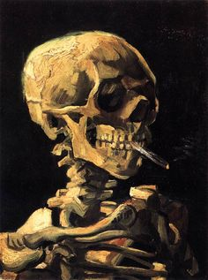 Vincent van Gogh Skull with a Burning Cigarette Ii painting is shipped worldwide,including stretched canvas and framed art.This Vincent van Gogh Skull with a Burning Cigarette Ii painting is available at custom size. Van Gogh Pinturas, Vincent Van Gogh, Van Gogh Museum, Oil On Canvas, Canvas Art, Canvas Prints, Painting Canvas, Skull Painting, Canvas Size