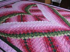 Free Bargello Quilt Patterns | Country Garden Quiltworks: Melinda's Heart Bargello Quilt