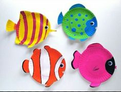 7 Ways To Craft With Paper Plates Plate Tropical Fish