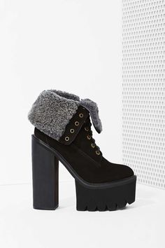 Jeffrey Campbell In Charge Platform Boot - Black Nubuck | Shop What's New at Nasty Gal