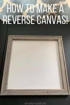 Have you seen the cool new way to make DIY signs with your Cricut or Cameo? Making a reverse canvas takes a lot of the work and materials out of creating your own DIY farmhouse signs. This process is quick and easy and makes for a great custom gift! Canvas Crafts, Diy Canvas, Canvas Art, Vinyl Projects, Craft Projects, Circuit Projects, Crafts To Make, Arts And Crafts, Diy Crafts
