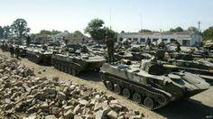 Tanques rusos en Osetia, en 2008