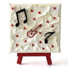 Music (Zene) - 10 x 10 cm (10 x 14 cm), 2018 #paverpol #textile #textil #acrylic #akril #vivienholl #music #zene #guitar #gitár  #musicnotes #hangjegyek Techno, Advent Calendar, Holiday Decor, Home Decor, Musica, Decoration Home, Room Decor, Advent Calenders, Techno Music