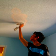 For a kid's room, I usually like to paint clouds on the ceiling and use a clean cloth to blend the cloud for shading and to show the realistic of clouds. It turns out adorable especially if your room is brightly lit by the sun from the window. Sky Ceiling, Ceiling Murals, Princess Bedrooms, Baby Playroom, Guest Room Decor, Rainbow Room, Daughters Room, Kids Church, Boy Room