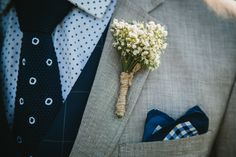 LETTUCE & CO - STYLE. EAT. PLAY 'matt + emma - wedding in at the mountains'. mountain wedding ceremony. country wedding. rustic. baby's breath. groom buttonhole. twine. groom pocket square. concept, design and styling by lettuce & co