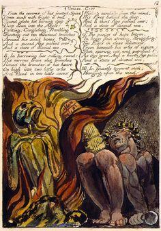 William Blake: The First Book of Urizen The Morgan Library & Museum William Blake, Morgan Library, Expressive Art, Great Artists, Famous Artists, Printmaking, Book Art, Illustration Art, Painting
