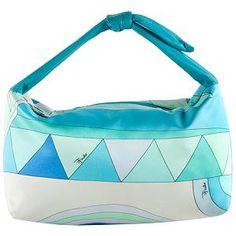 Emilio Pucci Satin Print Small Satchel Handbag