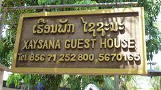 Guest House Xaysana. #LuangPrabang #Laos