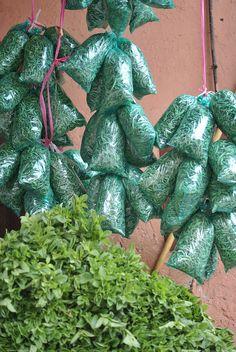 La verveine est généralement séchée avant d'être vendue dans des petits sachets