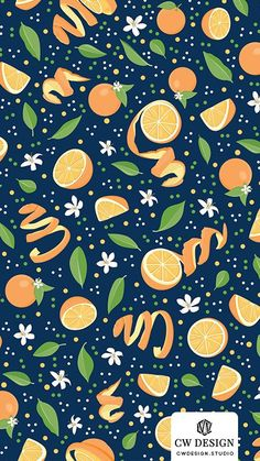 Valencia Oranges Surface Pattern Design Collection I loved how Valencia honors their oranges within their architecture and arts. I was inspired to design. Fruit Illustration, Pattern Illustration, Food Illustrations, Orange Pattern, Fruit Pattern, Food Patterns, Print Patterns, Valencia Orange, Orange Fruit