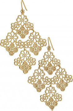 CHANTILLY LACE CHANDELIER EARRINGS... my favorite earrings right  now. i wear them with everything