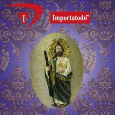 Piedra Decorativa con la figura de San Judas Tadeo marca TRENTINO. Modelo 45-639