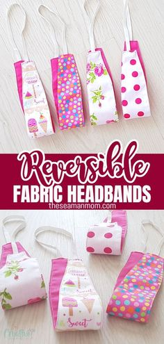 If you've been looking for new ways to style your hair, then look no more cause I've got the perfect idea: a fabric headband pattern! Super cute and super easy! And the best part is they are reversible so you can wear them many ways and fit many styles! Diy Sewing Projects, Sewing Projects For Beginners, Sewing Hacks, Sewing Tutorials, Sewing Crafts, Sewing Tips, Sewing Ideas, Kids Headbands, Stretchy Headbands