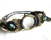 Bracelet with Brass ring and Turquoise